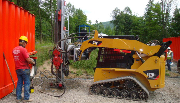 Drilled Micropiles Worksite